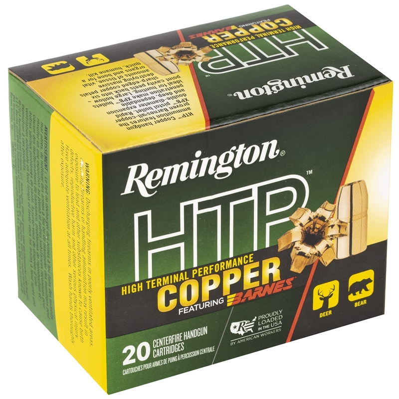 Remington HTP 44 Remington Magnum Ammo 225 Grain Barnes XPB
