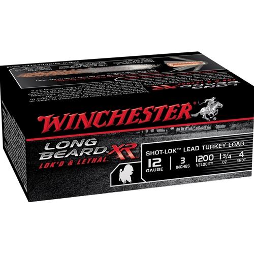 """Winchester Long Beard XR 12 Gauge 3"""" 1.75 oz. #4 Lead Shot"""