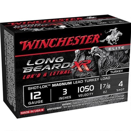 "Winchester Long Beard XR 12 Gauge 3"" 1 7/8oz. #4 Copper Plated Lead Shot"
