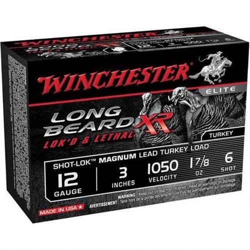 "Winchester Long Beard XR 12 Gauge 3"" 1 7/8oz. #6 Copper Plated Lead Shot"