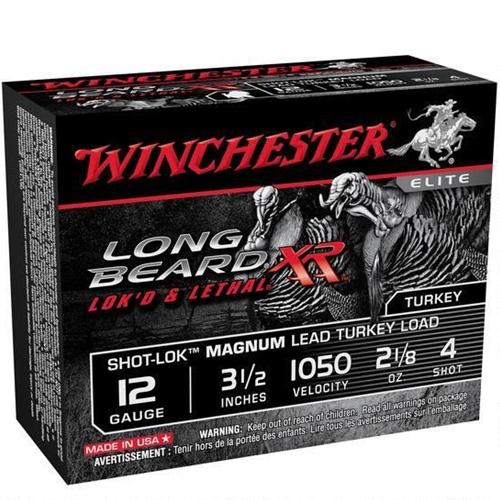 "Winchester Long Beard XR 12 Gauge 3 1/2"" 2 1/8oz. #4 Copper Plated Lead Shot"
