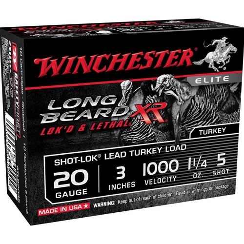 "Winchester Long Beard XR 20 Gauge 3"" 1 1/4oz. #5 Copper Plated Lead Shot"