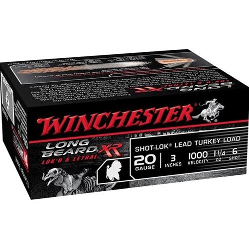 "Winchester Long Beard XR 20 Gauge 3"" 1 1/4oz. #6 Copper Plated Lead Shot"