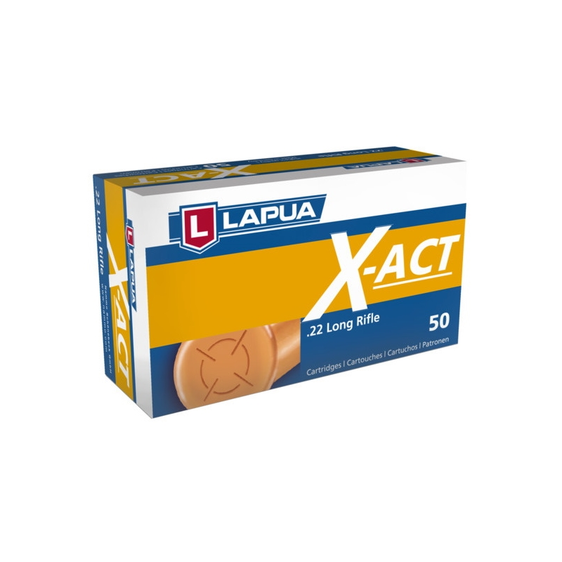 Lapua X-ACP 22 Long Rifle Ammo 40 Grain Lead Round Nose
