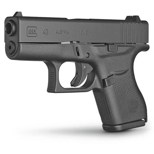 Glock G43 9mm Sub-Compact 6 Round Pistol Black