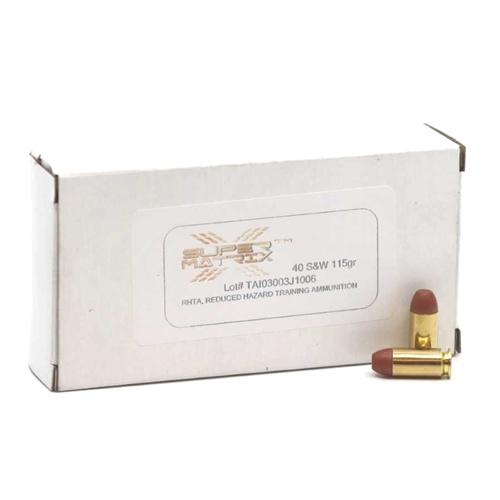 Geco Super Matrix 40 S&W Ammo 115 Grain Frangible Lead-Free RHTA