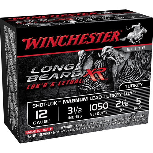 "Winchester Long Beard XR 12 Gauge 3 1/2"" 2 oz. #5 Shot-Lok Magnum Lead"