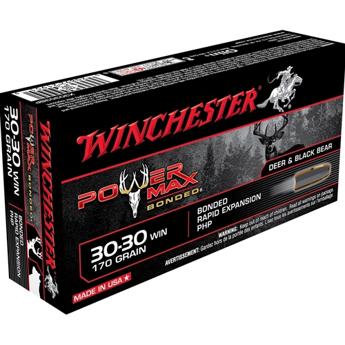 Winchester Power Max Bonded 30-30 Winchester 170 Grain Protected Hollow Point