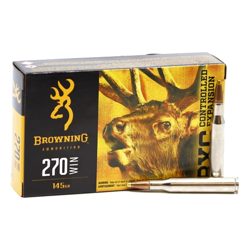 Browning 270 Winchester Ammo 145 Grain Terminal Tip