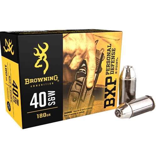 Browning BXP 40 S&W Ammo 180 Grain Jacketed Hollow Point