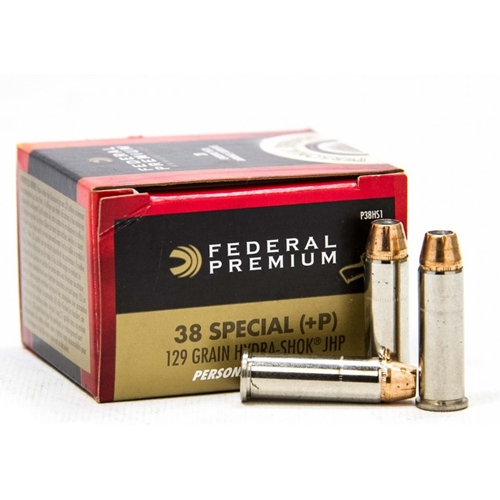 Federal Personal Defense Ammo 38 Special 129 Gr +P Hydra-Shok JHP