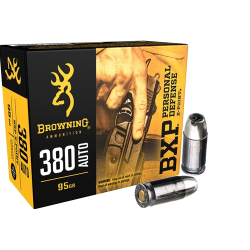 Browning BXP 380 ACP AUTO Ammo 95 Grain Jacketed Hollow Point