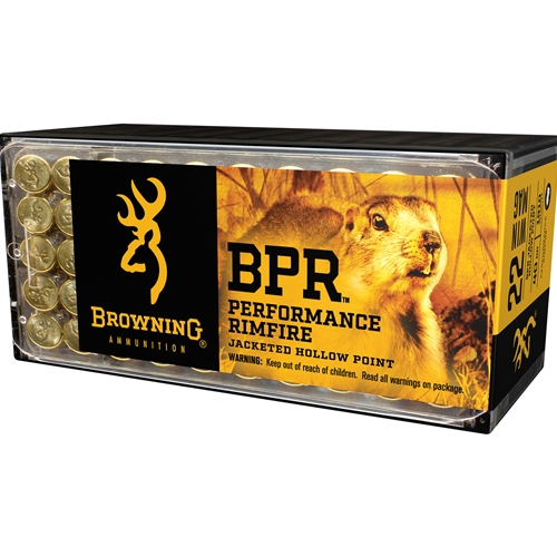 Browning BPR 22 WMR Ammo 40 Grain Jacketed Hollow Point