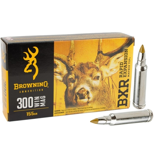 Browning 300 Winchester Magnum Ammo 155 Grain Matrix Tip