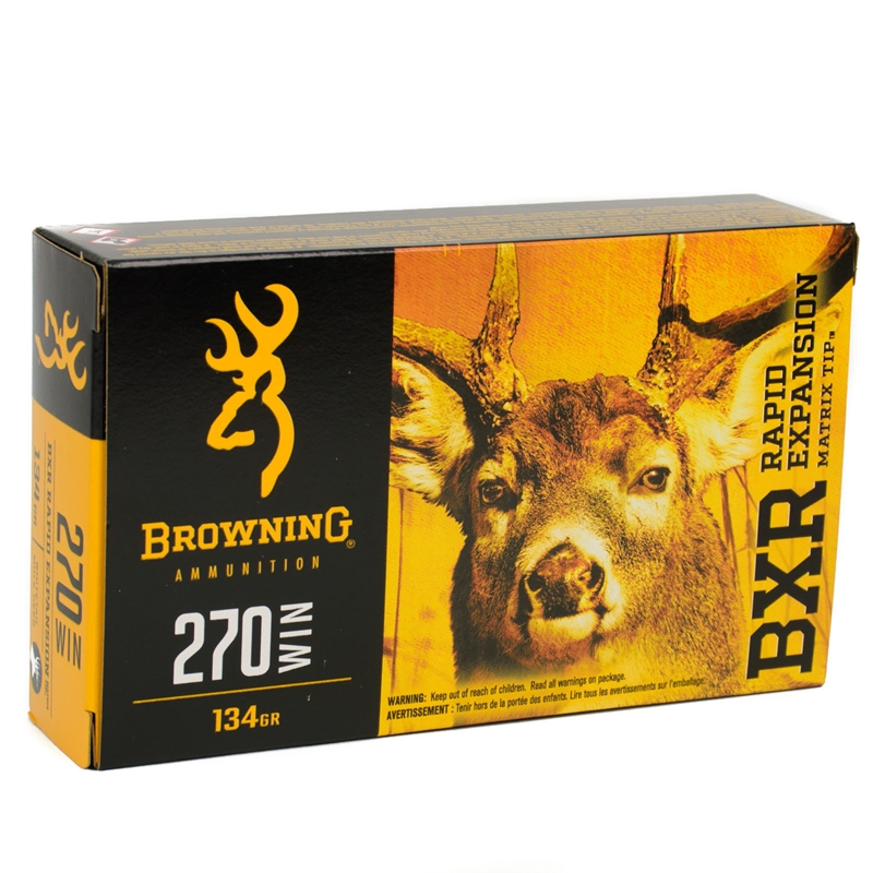 Browning 270 Winchester Ammo 134 Grain Terminal Tip
