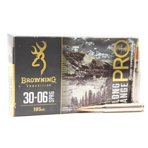 Browning Long Range Pro 30-06 Springfield Ammo 195 Grain Sierra MatchKing BTPT