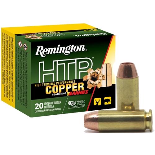 Remington HTP Copper 10mm Auto Ammo 155 Grain Barnes XPB