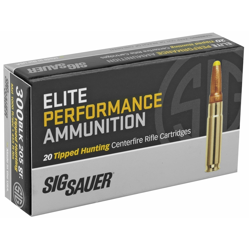 Sig Sauer Elite Performance 300 AAC Blackout Ammo 205 Grain Elite Hunting Subsonic