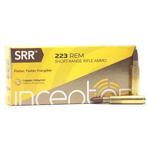Inceptor Sport Utility 223 Remington Ammo 35 Grain SRR Frangible