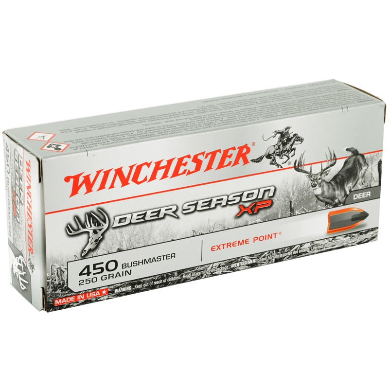 Winchester 450 Bushmaster Ammo 250 Grain Extreme Point