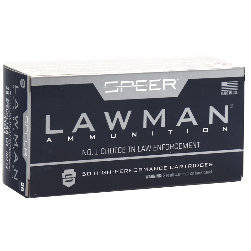 Speer Lawman 38 Special Ammo 158 Grain Total Metal Jacket