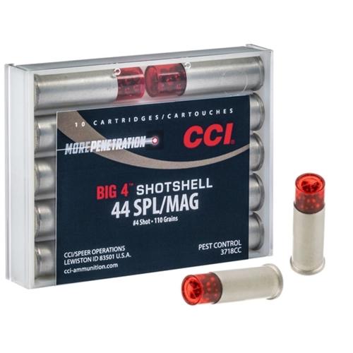 CCI Big 4 Shotshell 44 Special/.44 Magnum Ammo 110 Grain #4 Shot