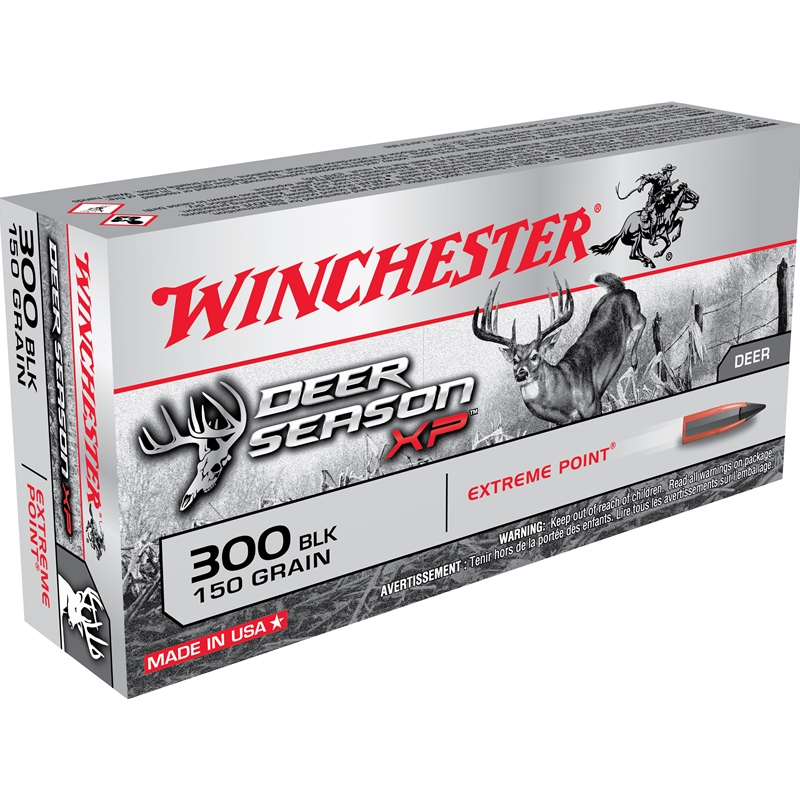 Winchester Deer Season XP 300 AAC Blackout Ammo 150 Grain Extreme Point Polymer Tip