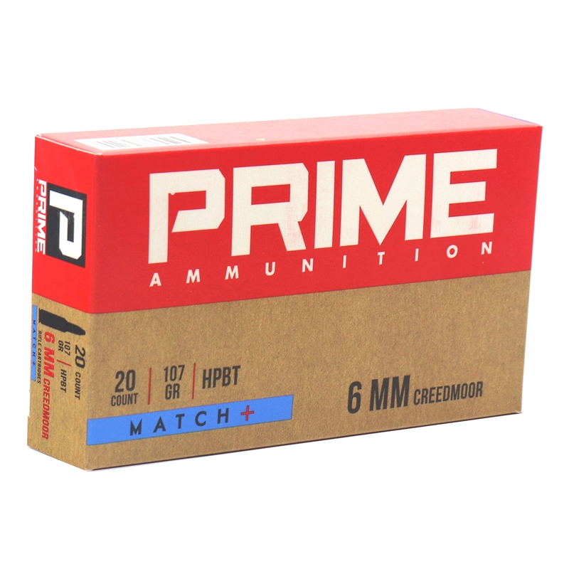 Prime Ammunition 6mm Creedmoor Ammo 107 Grain HPBT OTM Match+