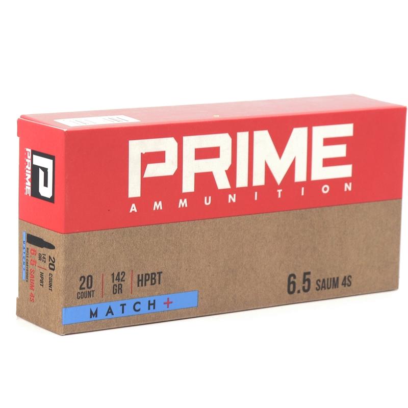Prime Ammunition 6.5 Remington SAUM 4S Ammo 142 Grain OTM Match+