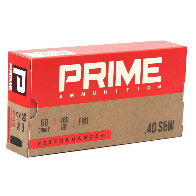 Prime Ammunition 40 S&W Ammo 180 Grain Performance +