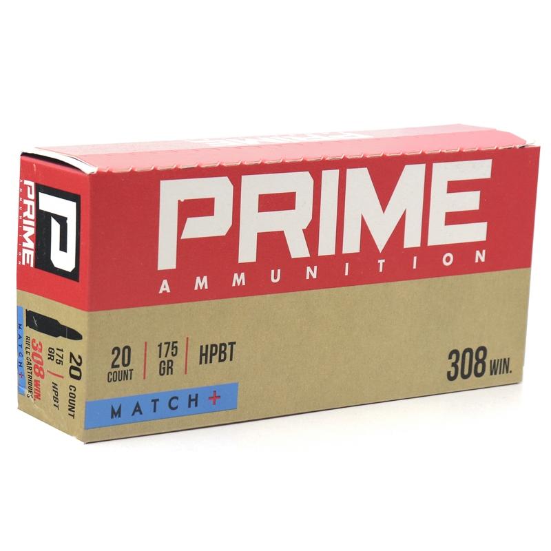 Prime Ammunition 308 Winchester Ammo 175 Grain OTM Match+