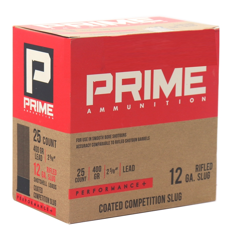 "Prime Ammunition 12 Gauge 2 5/8"" Ammo 400 Grain Competition Slug"