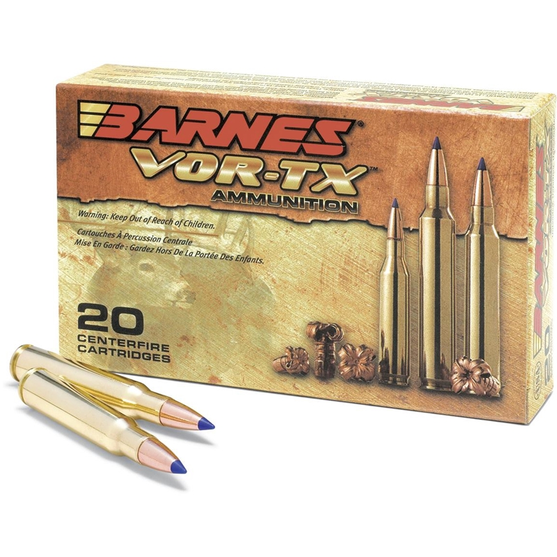 Barnes VOR-TX 260 Remington Ammo 120 Grain TTSX Polymer Tipped Spitzer Boat Tail Lead-Free