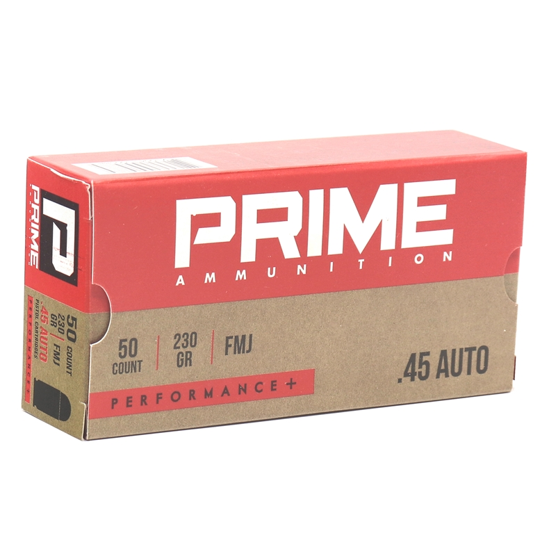 Prime Ammunition 45 ACP Ammo 230 Grain Performance+