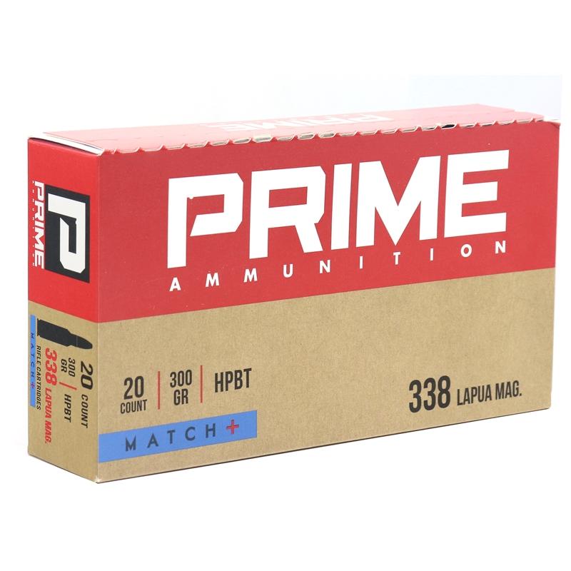 Prime Ammunition 338 Lapua Magnum Ammo 300 Grain HPBT Match +