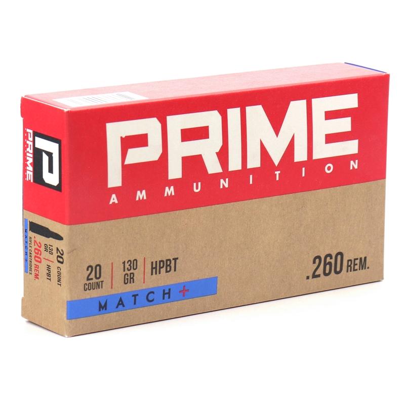 Prime Ammunition 260 Remington Ammo 130 Grain HPBT Match +