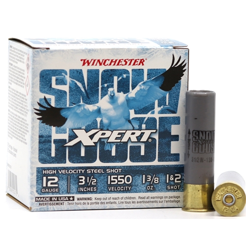 "Winchester USA Xpert Snow Goose 12 Gauge Ammo 3 1/2"" 1 3/8 oz #1 and #2 Steel Shot"