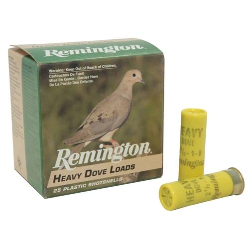 "Remington Heavy Dove & Quail 20 Gauge Ammo 2-3/4"" 1oz #8 Shot"