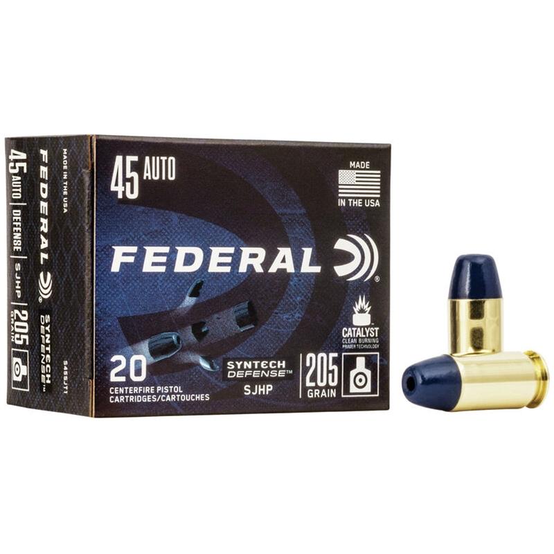 Federal Syntech Defense 45 ACP Ammo 205 Grain Segmented Hollow Point