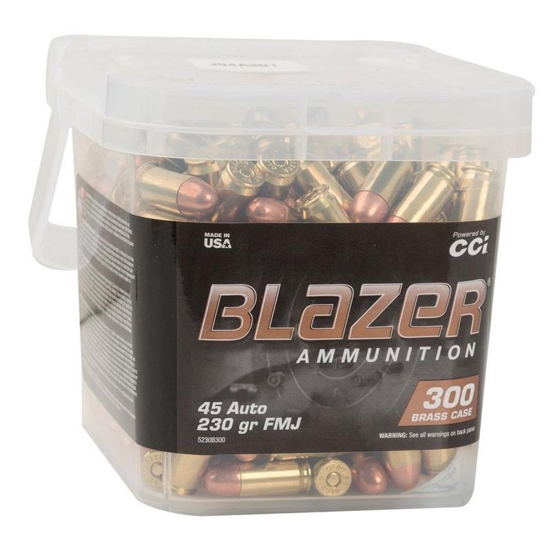 CCI Blazer Pack 45 ACP Ammo 230 Grain FMJ 300 Round Bucket