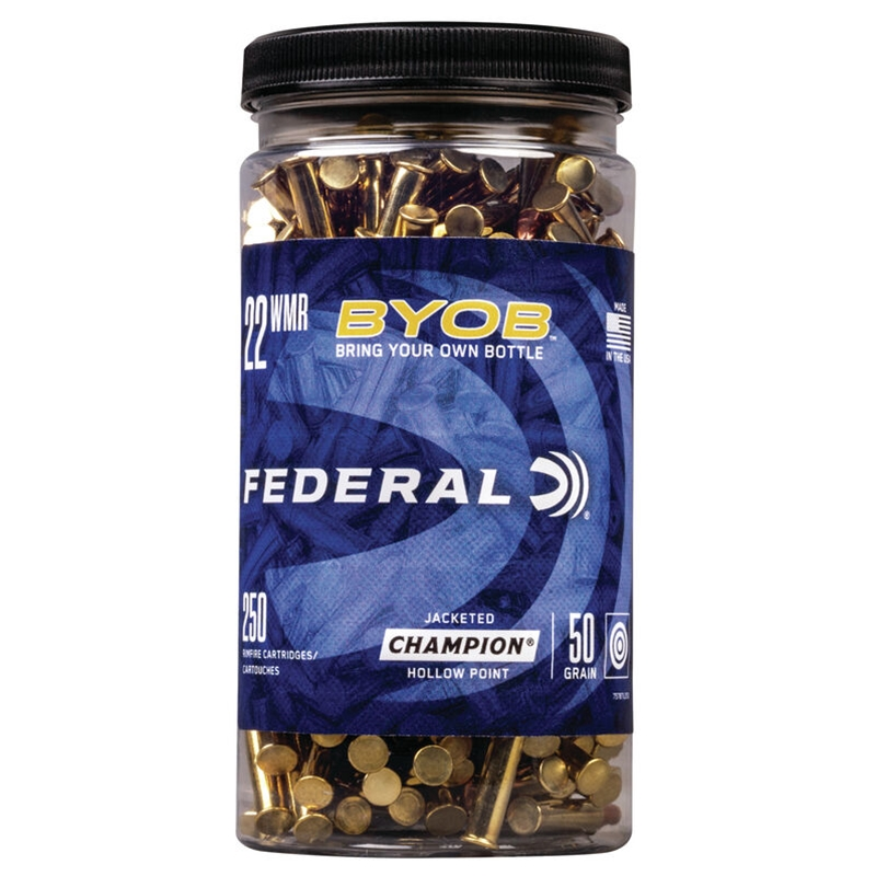 Federal Champion 22 Long Rifle Ammo 50 Grain BYOB Copper Plated Hollow Point