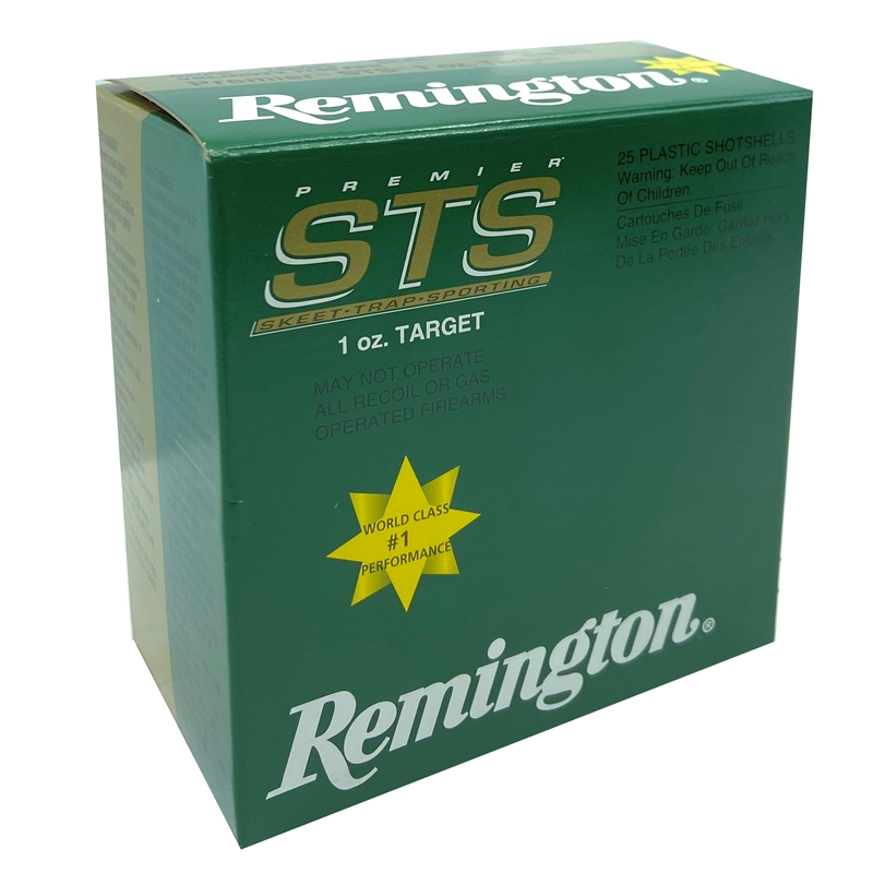 "Remington Premier STS Target Loads 12 Gauge Ammo 2-3/4"" 1 oz #8 Shot 250 Rounds"