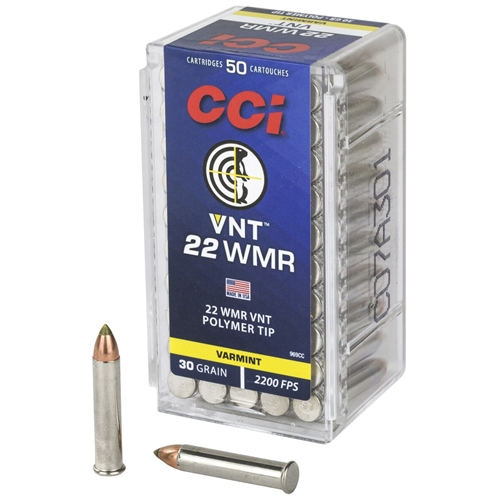 CCI 22 WMR Ammo 30 GR Varmint Tipped