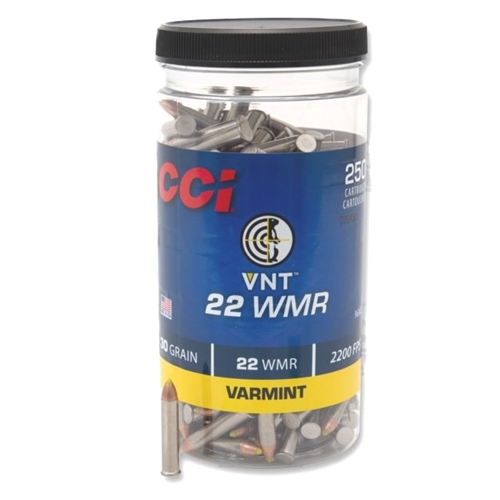 CCI 22 WMR Ammo 30 GR Varmint Tipped 250 Round Bottle
