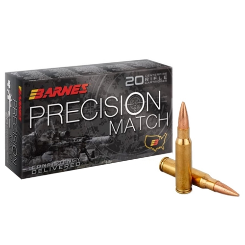 Barnes Precision Match 308 Winchester Ammo 175 Grain Open Tip Match
