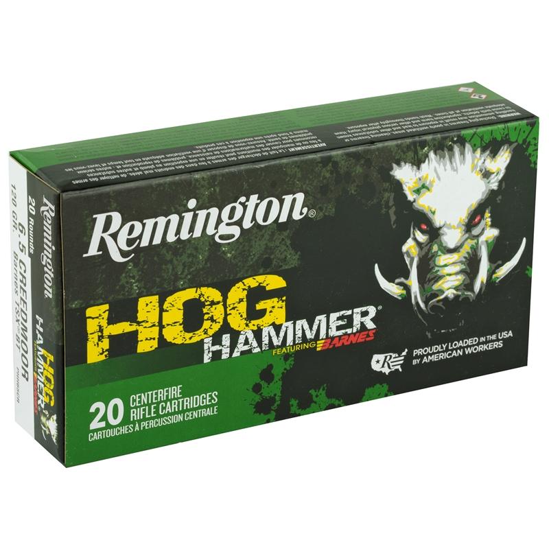 Remington Hog Hammer 6.5 Creedmoor Ammo 120 GR TSX Boat Tail