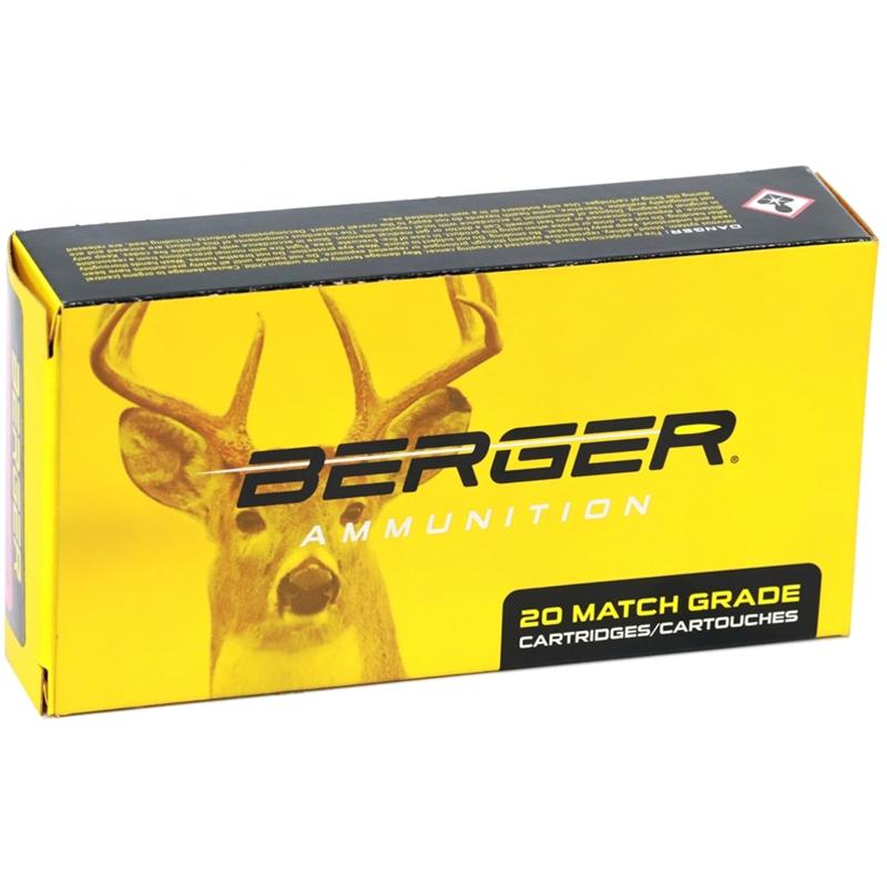 Berger Match Grade 6mm Creedmoor Ammo 95 Grain Classic Hunter