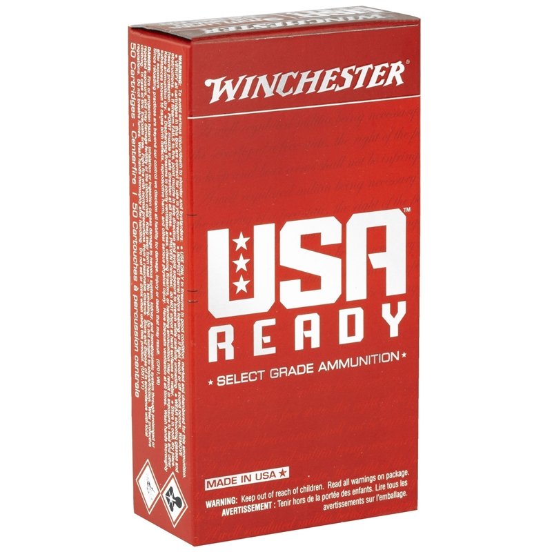 Winchester USA Ready 9mm Luger Ammo 115 Grain Full Metal Jacket Flat Nose
