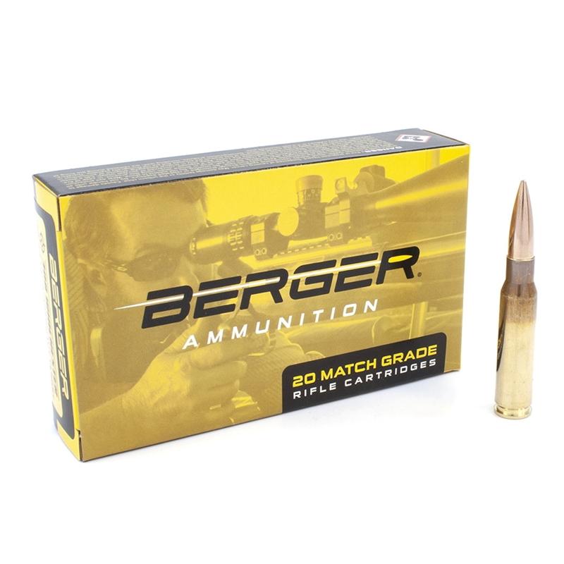 Berger Match Grade 308 Winchester Ammo 185 Grain Juggernaut Target