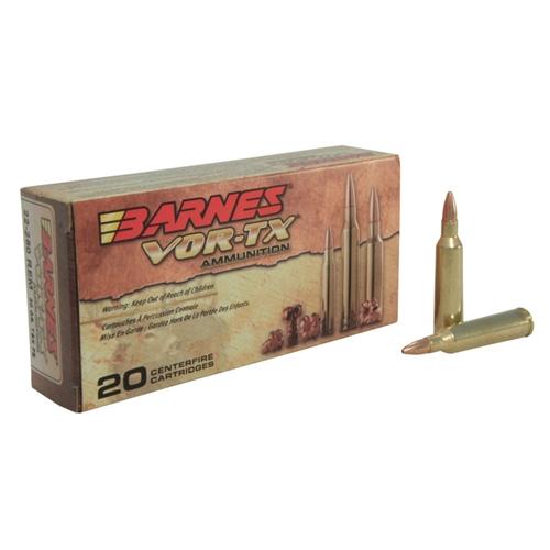 Barnes VOR-TX 22-250 Remington Ammo 50 Gr TSX FBLF
